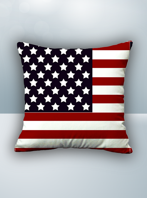 US Flag Design on Cool Magic Massage Pillow