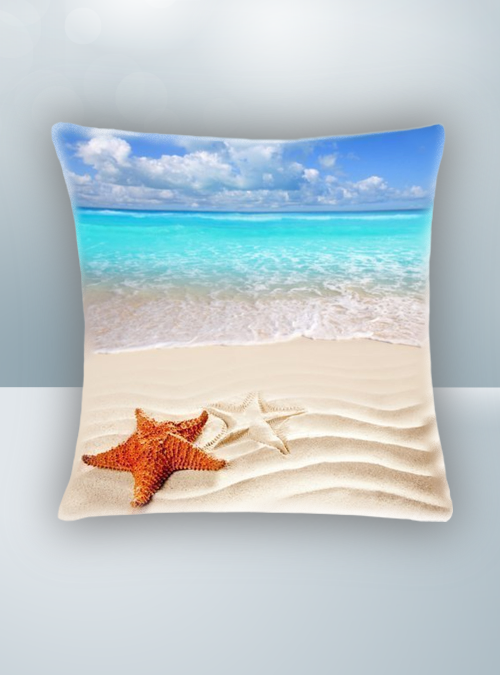 Beach Starfish Sea Design on Cool Magic Pillow
