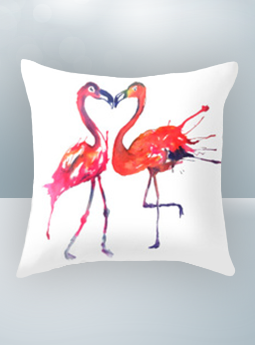 Flamingo Love Design on Cool Magic Pillow