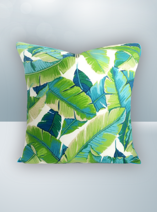 Green Palm Design on Cool Magic Pillow