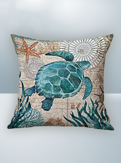 Blue Green Turtle & Sea Design on Cool Magic Pillow