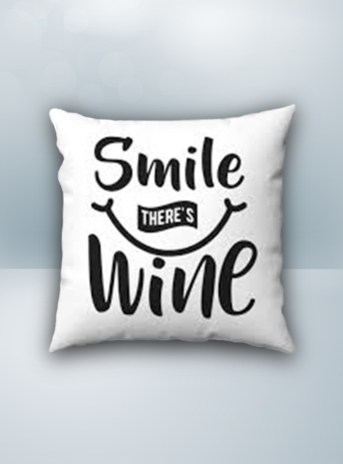 Wine Smile Design on Cool Magic Pillow