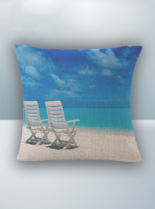 Beach Chair and Sea Design on Cool Magic Pillow
