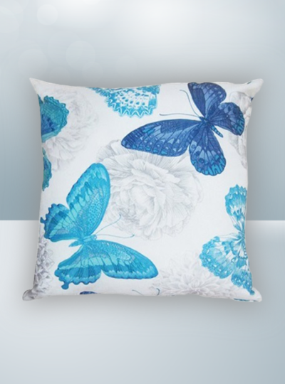 Blue Butterfly Design on Cool Magic Pillow
